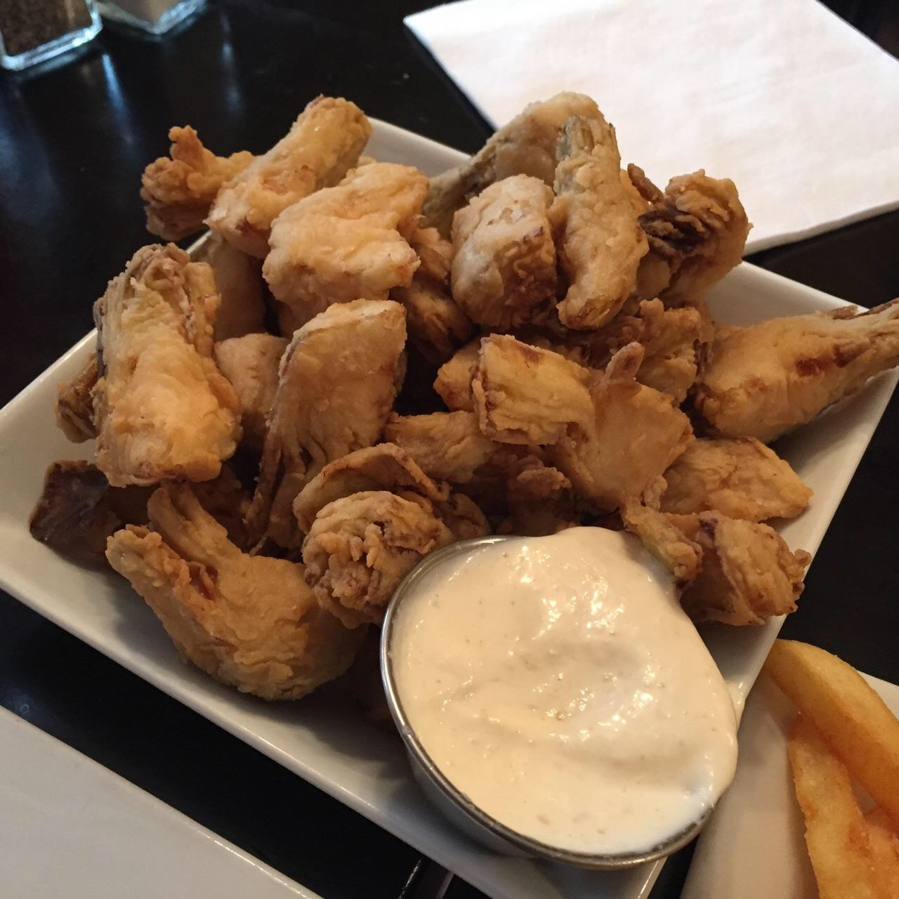 Let\'s Get Greedy features Fried Artichoke Hearts from Burger Bistro ...